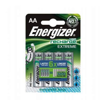 Energizer Recharge Extreme, AA, 2300 mAh, Ni-MH, блистер 4 шт