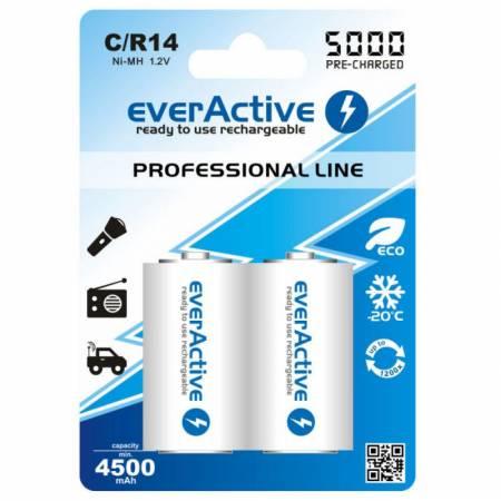 EverActive EVHRL14-5000, С/R14, 5000 mAh, Ni-MH, блистер 2 шт