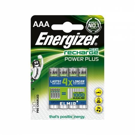 Energizer Recharge Power Plus, AAA, 700 mAh, Ni-MH, блистер 4 шт