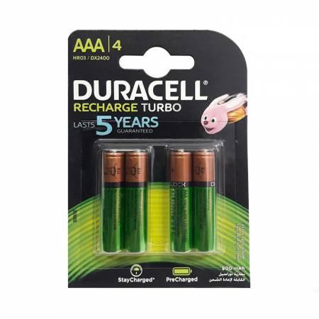 Duracell Recharge Turbo DX2400, AAA, 900 mAh, Ni-MH, блистер 4 шт