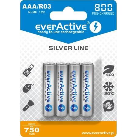 EverActive EVHRL03-800, AAA, 800 mAh, Ni-MH, блистер 4 шт