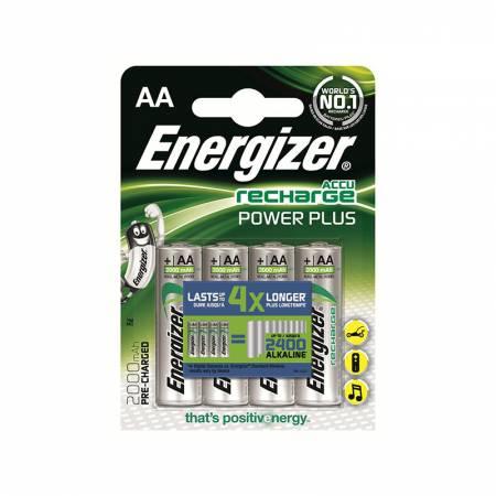 Energizer Recharge Power Plus, AA, 2000 mAh, Ni-MH, блистер 4 шт