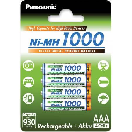 Panasonic Eneloop BK-4HGAE/4BE, AAA, 1000 mAh, Ni-MH, блистер 4 шт